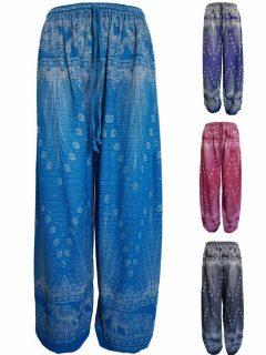 Alibaba trousers - Elephant and Peacock print
