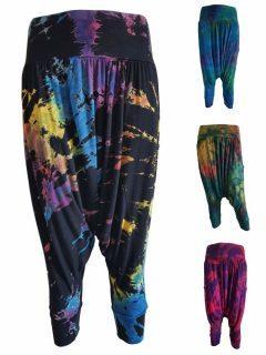 Tie dye 3/4 length Harem Trousers