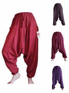 Plain cotton harem trousers