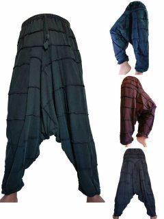 Square patch Stonewash Harem trousers