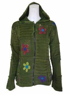 Pixie patchwork rib jacket – Green