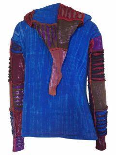 Pixie patchwork rib jacket – Multi