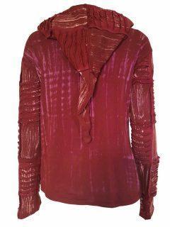 Pixie patchwork rib jacket – Red