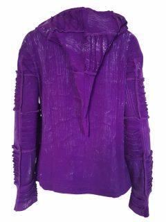 Pixie patchwork rib jacket – Purple