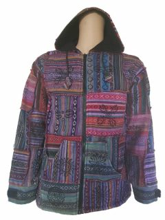 Patchwork buddha eye jacket
