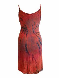Tie dye strap dress – Orange