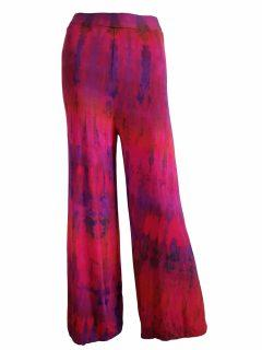 Tie dye trousers – Red