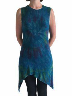 Tie dye Pixie Hood Tunic – Teal