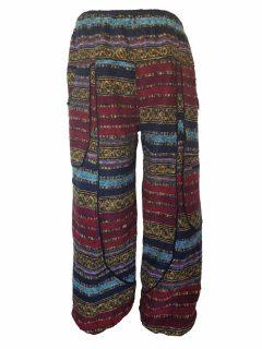 Heavy brushed cotton alibaba trousers – Orange