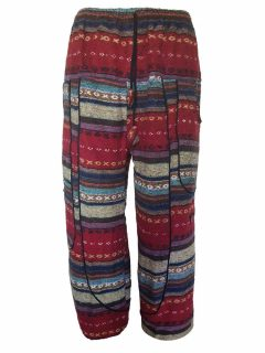 Heavy brushed cotton alibaba trousers – Red
