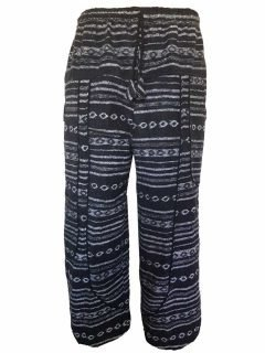 Heavy brushed cotton alibaba trousers – Black and White