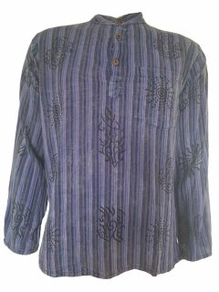 Stonewashed shirt- Purple