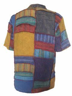 Patchwork shirt- Short sleeved