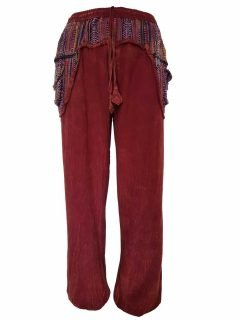 Stonewashed ali baba trousers- Red