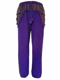 Stonewashed ali baba trousers- Purple