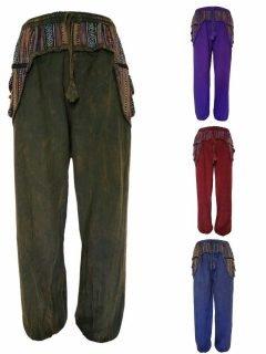 Stonewashed ali baba trousers