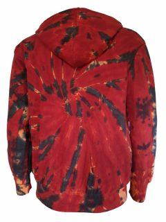 Tie dye hoody – Red