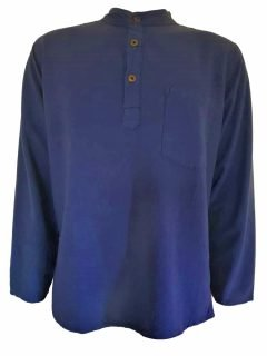 Grandad shirt- Blue