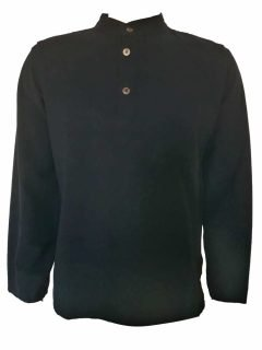 Grandad shirt- Black