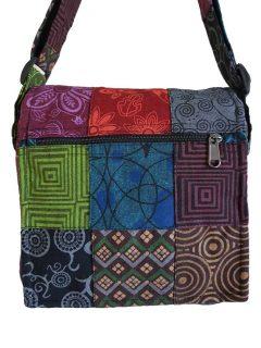 Patchwork messenger bag -Medium