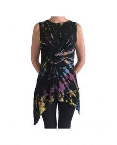 Tie dye Pixie Hood Tunic – Multi
