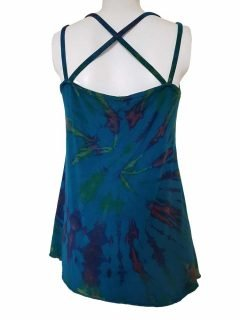 Cross over strap top – Teal