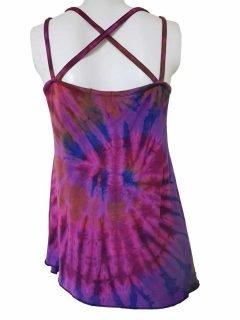 Cross over strap top – Purple