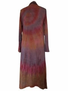 Long Tie dye Cardigan- Dusty Purple
