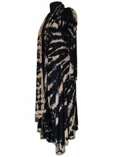Long Tie dye Cardigan- Black and White