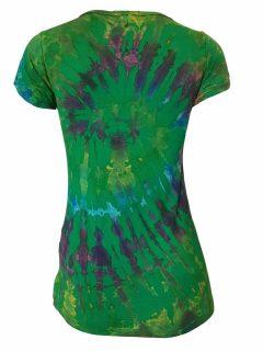 Tie Dye t-shirt: Emerald Green