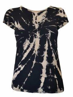 Tie Dye t-shirt: Black and White
