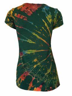 Tie Dye t-shirt: Forest Green