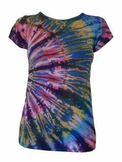 Tie Dye t-shirt: Royal Blue