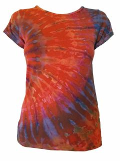 Tie Dye t-shirt: Orange