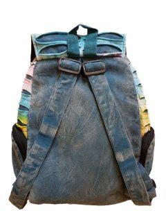 Pocket backpack – Blue rib cut