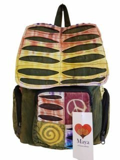 Pocket backpack – Green rib cut