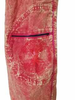 Tree of life trousers – Red