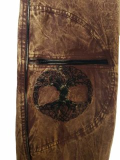 Tree of life trousers – Brown