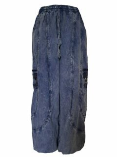 Tree of life trousers – Blue