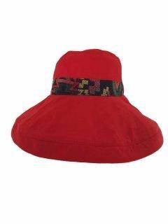 Reversible Wide Brim Hat – Red