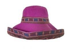 Reversible Wide Brim Hat – Purple