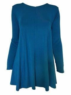 Plain long sleeved tunic – Teal