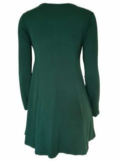 Plain long sleeved tunic – Forest Green