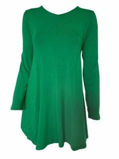 Plain long sleeved tunic – Emerald Green