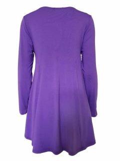 Plain long sleeved tunic – Light Purple