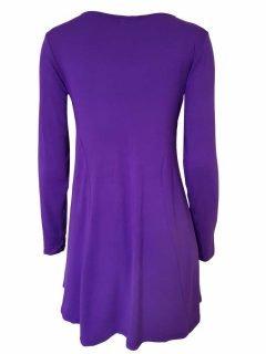 Plain long sleeved tunic – Dark Purple