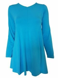 Plain long sleeved tunic – Turquoise