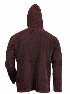 Lightweight cotton hoody – Red
