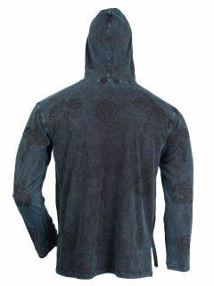 Lightweight cotton hoody – Blue