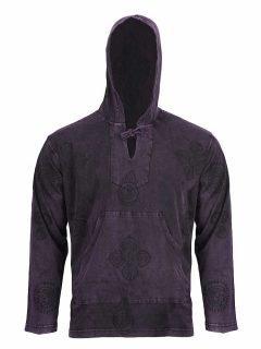 Lightweight cotton hoody – Purple